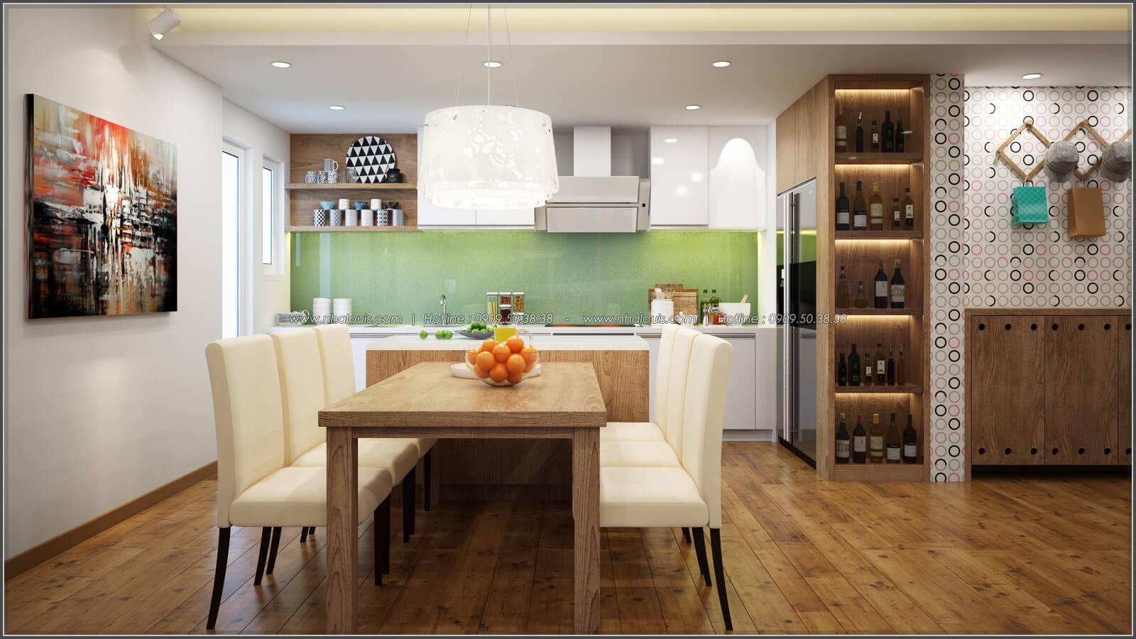 Phòng bếp và phòng ăn Thiết kế căn hộ chung cư 3 phòng ngủ Happy Valley quận 7 - 6