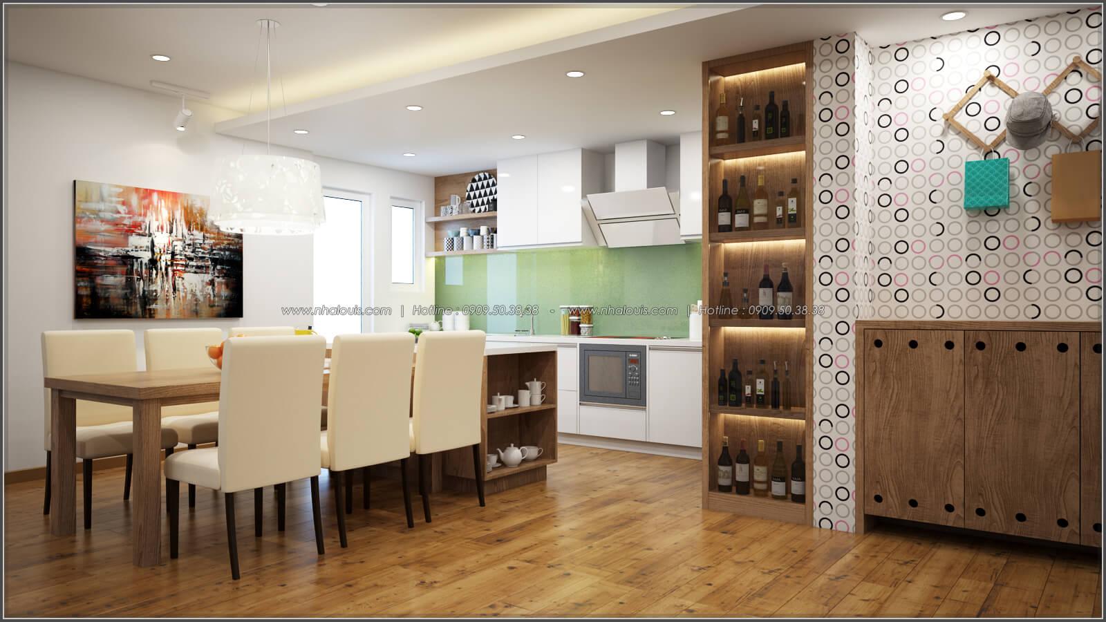 Phòng bếp và phòng ăn Thiết kế căn hộ chung cư 3 phòng ngủ Happy Valley quận 7 - 7