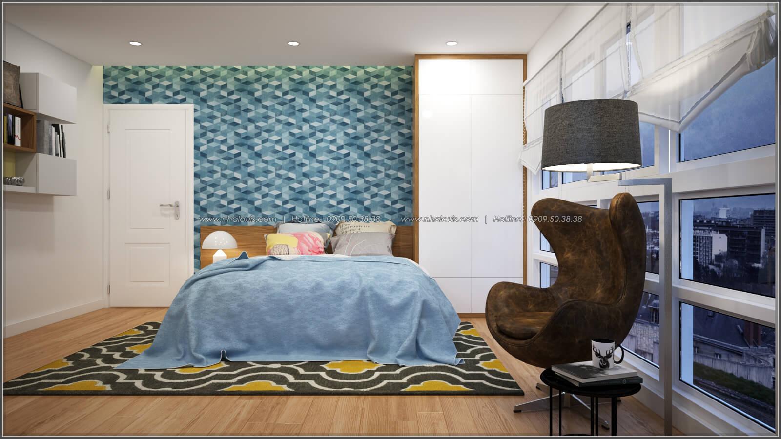 Phòng ngủ Thiết kế căn hộ chung cư 3 phòng ngủ Happy Valley quận 7 - 8