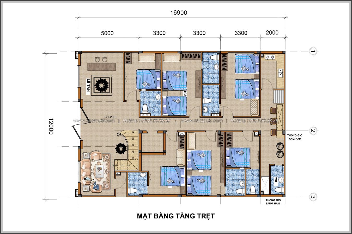 Thiết kế khách sạn cổ điển tại Phan Thiết đẹp lộng lẫy - 04