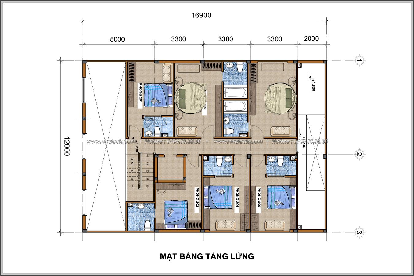 Thiết kế khách sạn cổ điển tại Phan Thiết đẹp lộng lẫy - 05