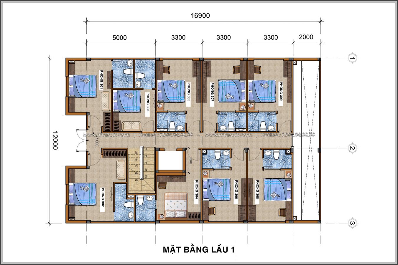 Thiết kế khách sạn cổ điển tại Phan Thiết đẹp lộng lẫy - 06