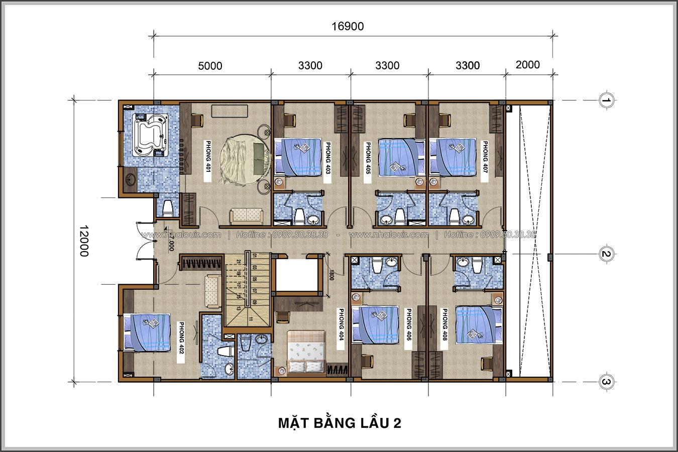 Thiết kế khách sạn cổ điển tại Phan Thiết đẹp lộng lẫy - 07