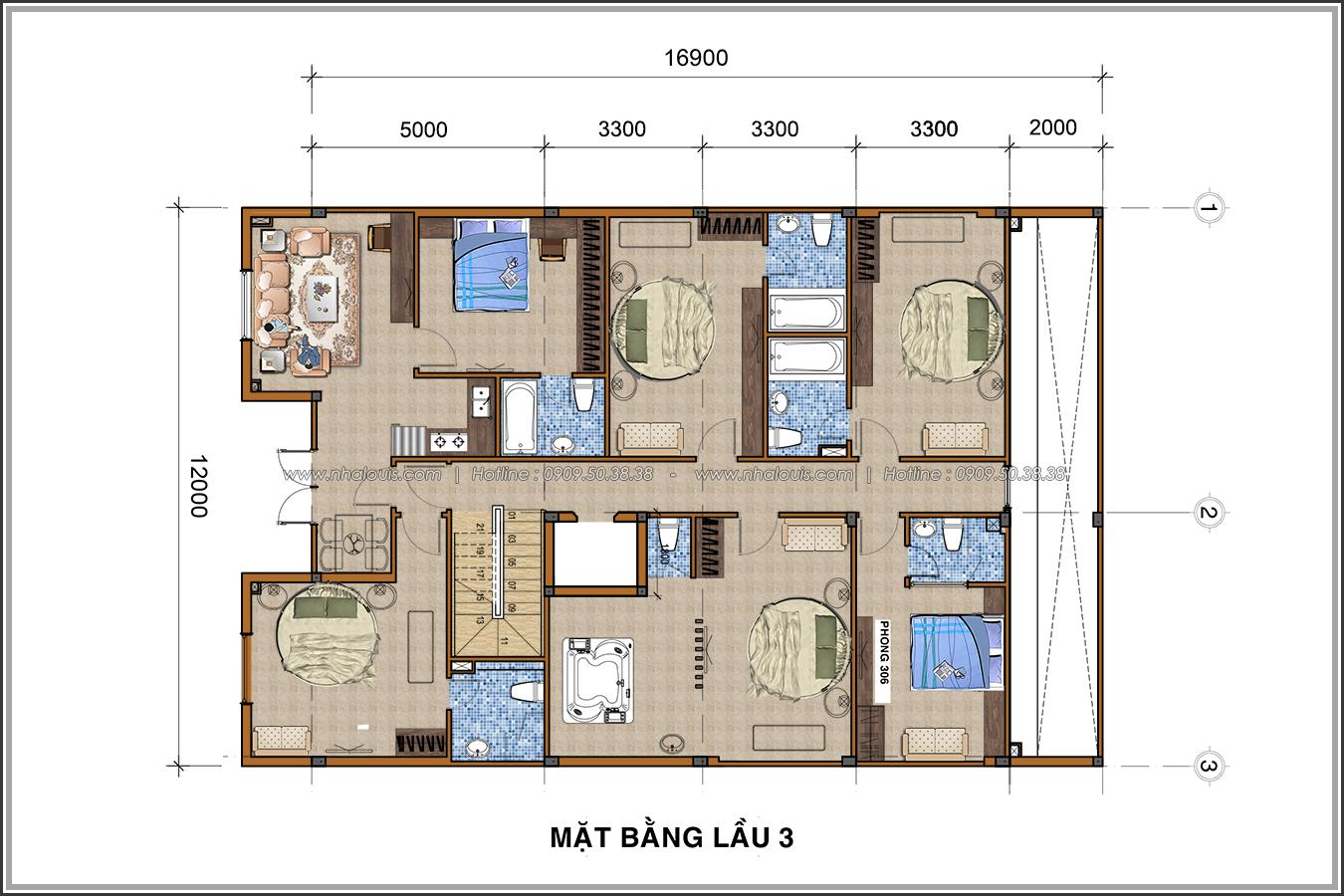 Thiết kế khách sạn cổ điển tại Phan Thiết đẹp lộng lẫy - 08