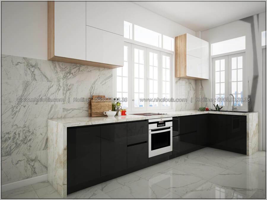 Phòng bếp Thiết kế nhà cấp 4 đẹp mang phong cách hiện đại ở vùng quê Long An - 08