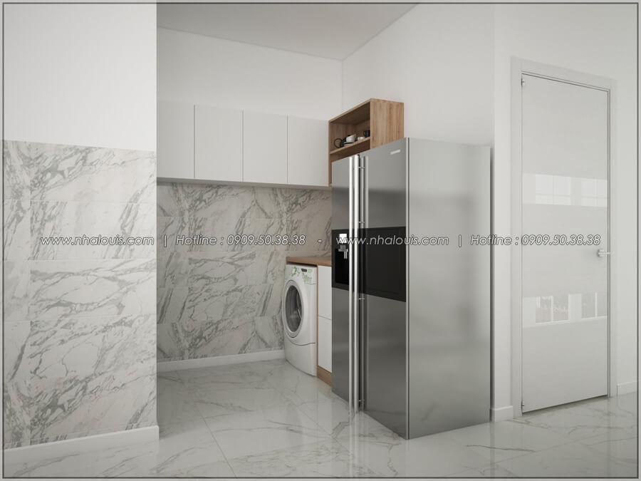 Phòng bếp Thiết kế nhà cấp 4 đẹp mang phong cách hiện đại ở vùng quê Long An - 09
