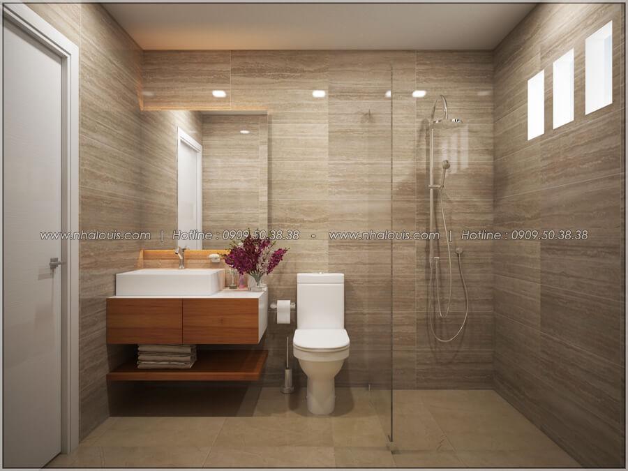 Phòng tắm và WC Thiết kế nhà cấp 4 đẹp mang phong cách hiện đại ở vùng quê Long An - 13