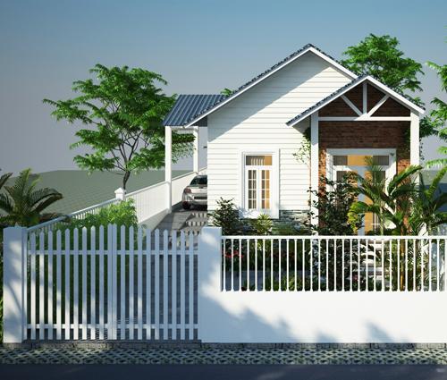 Thiết kế nhà cấp 4 đẹp mang phong cách hiện đại ở vùng quê Long An