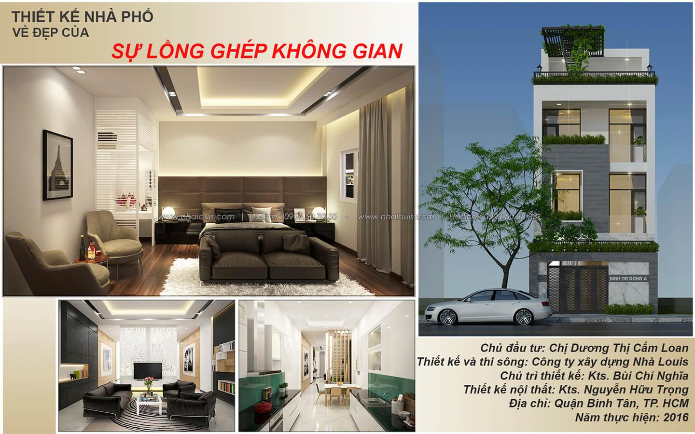 Thiết kế nhà mặt tiền 6m tại Quận Bình Tân - 1