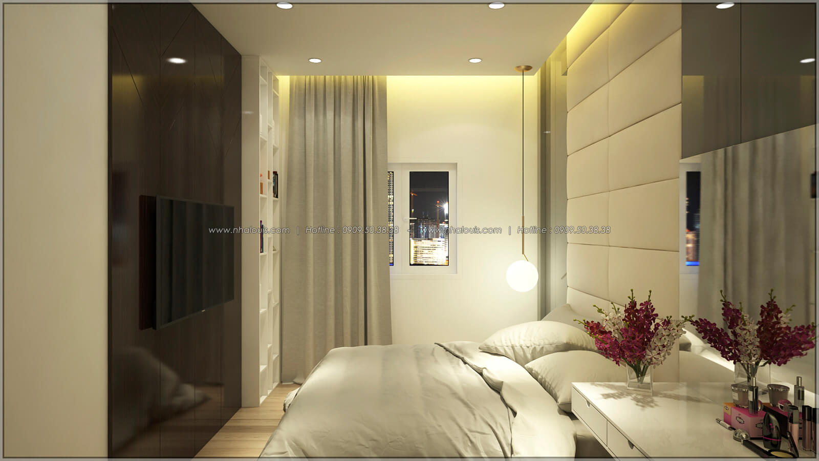 Phòng ngủ Thiết kế nhà mặt tiền 6m tại Quận Bình Tân - 22