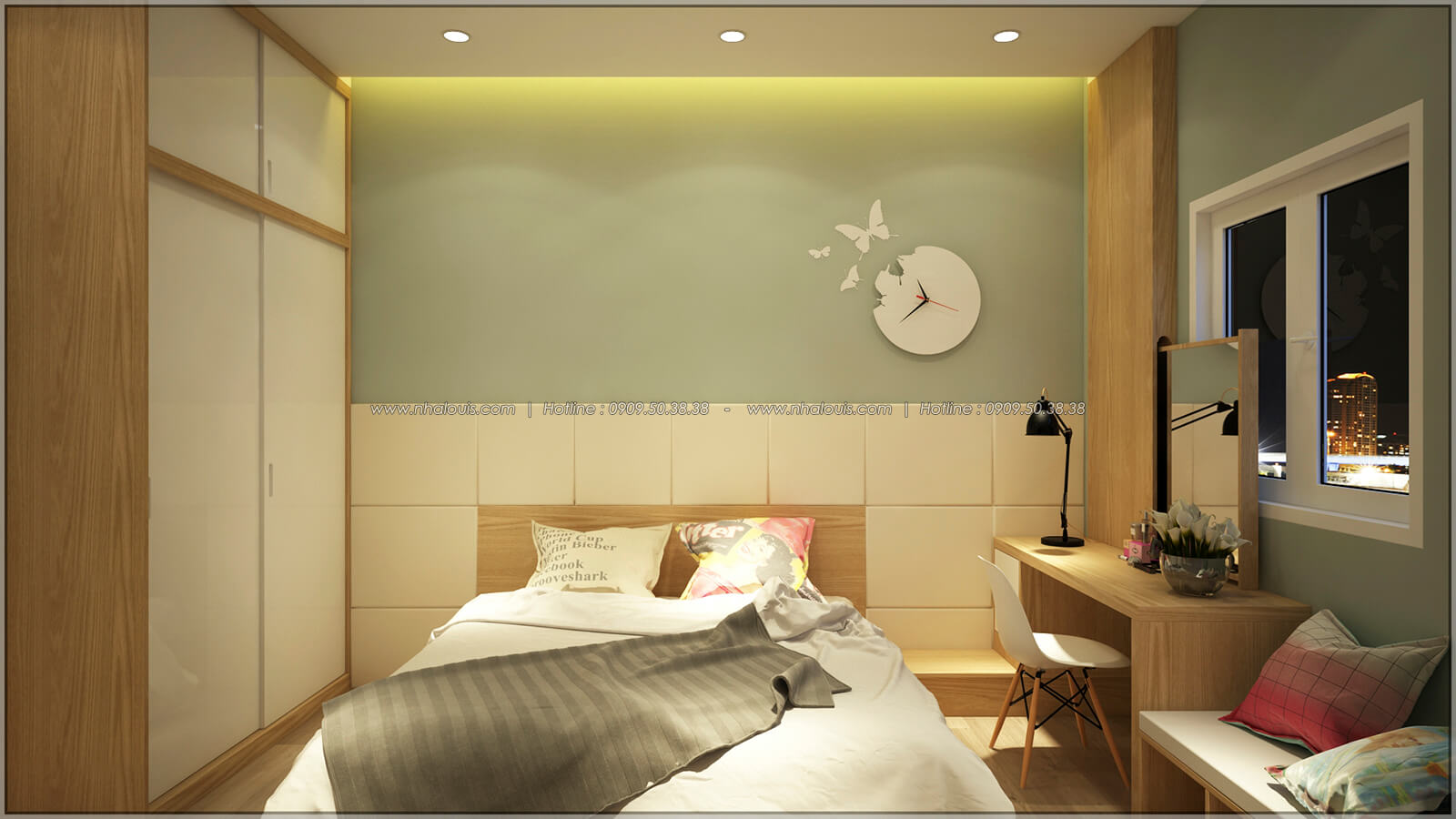 Phòng ngủ Thiết kế nhà mặt tiền 6m tại Quận Bình Tân - 26