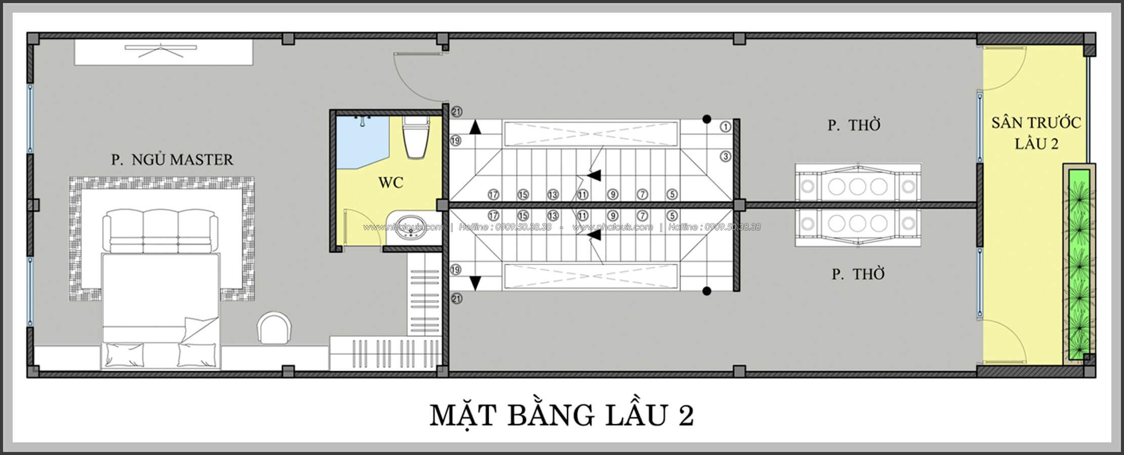 Mằng bằng lầu 2 Thiết kế nhà mặt tiền 6m tại Quận Bình Tân - 28