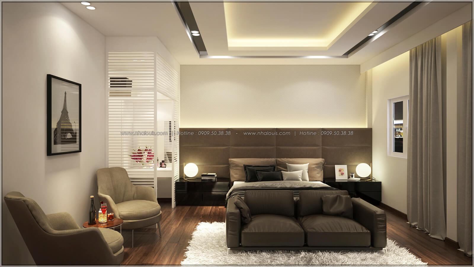 Phòng ngủ master Thiết kế nhà mặt tiền 6m tại Quận Bình Tân - 29