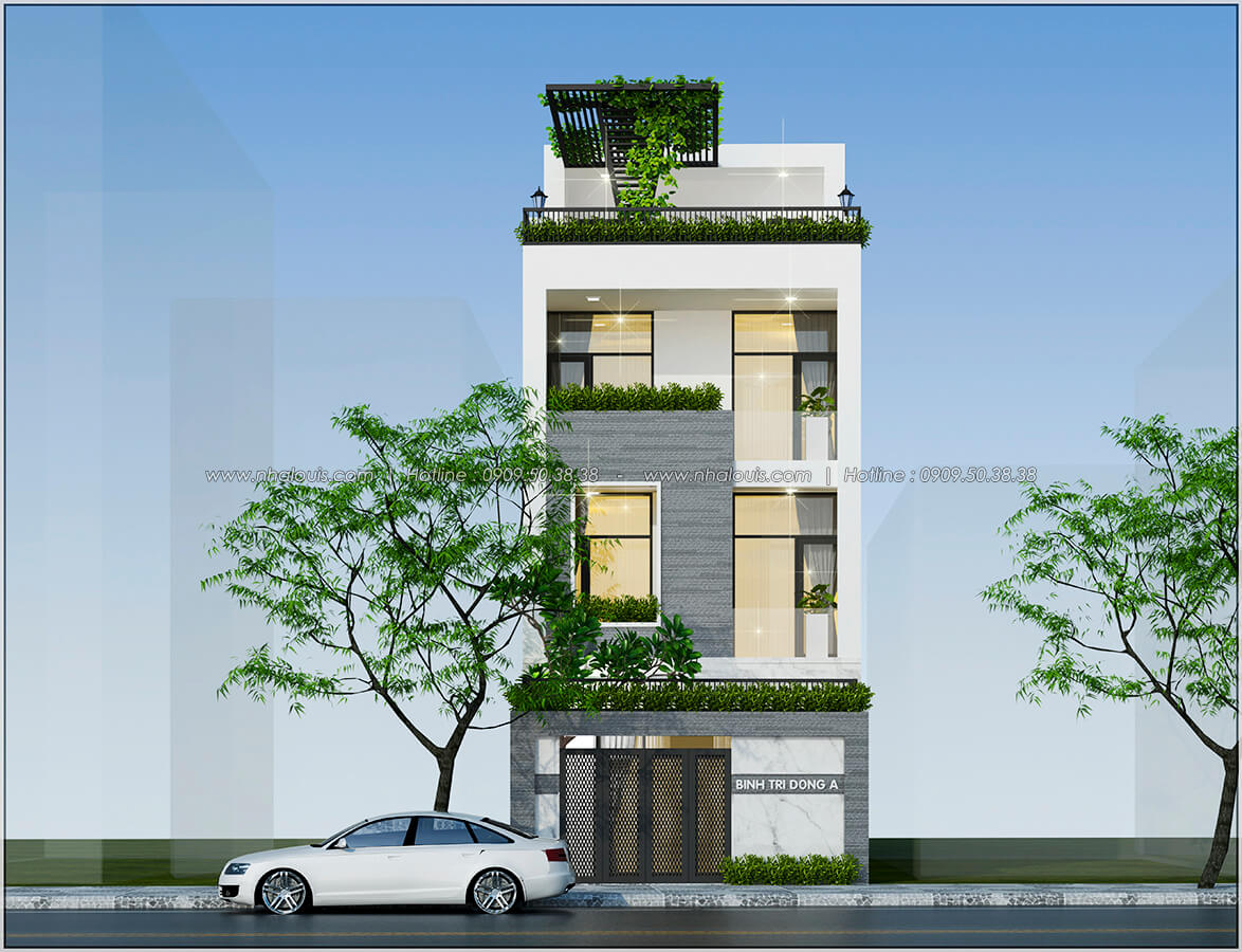 Mặt tiền Thiết kế nhà mặt tiền 6m tại Quận Bình Tân - 2