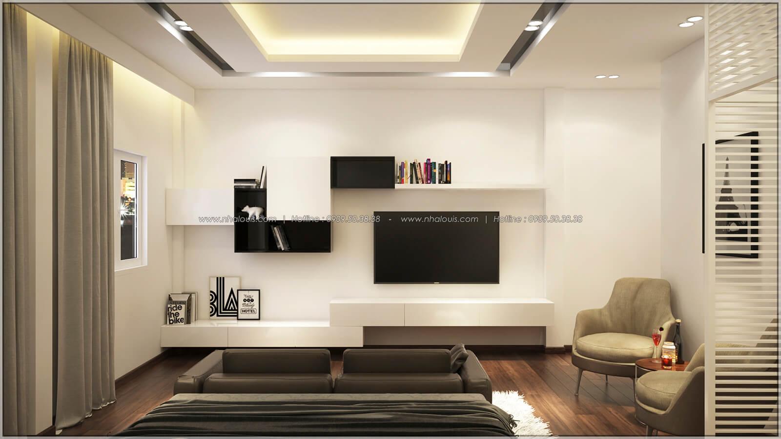 Phòng ngủ master Thiết kế nhà mặt tiền 6m tại Quận Bình Tân - 30