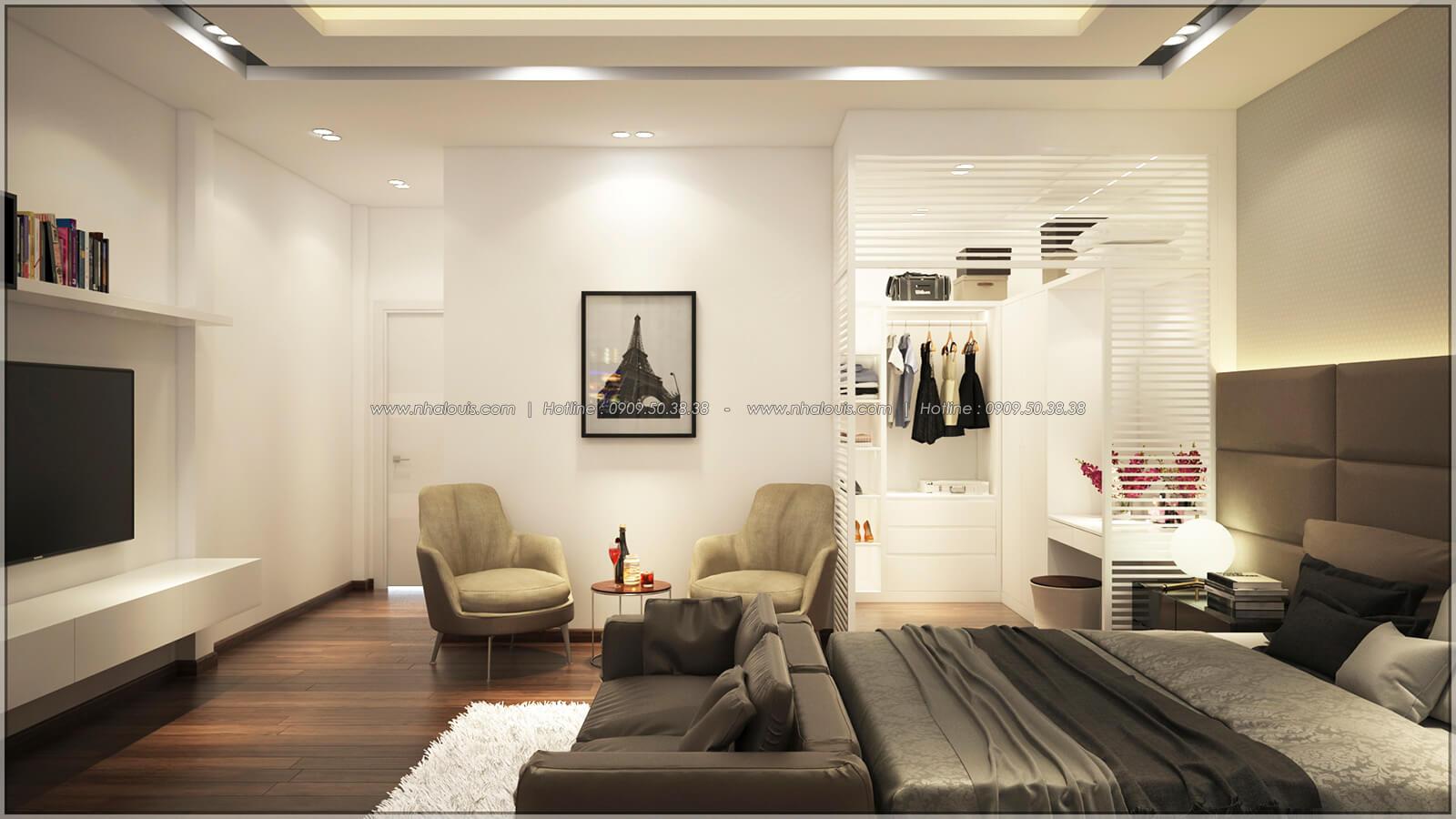 Phòng ngủ master Thiết kế nhà mặt tiền 6m tại Quận Bình Tân - 31