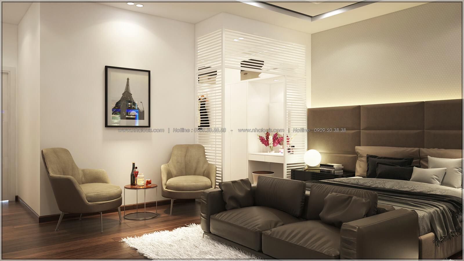 Phòng ngủ master Thiết kế nhà mặt tiền 6m tại Quận Bình Tân - 32
