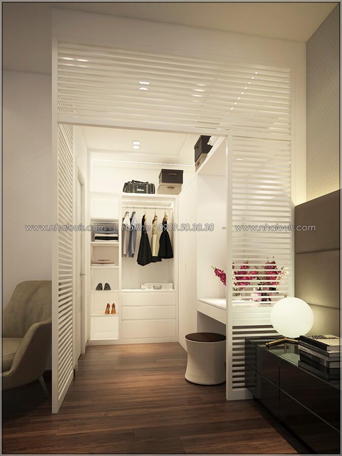 Phòng ngủ master Thiết kế nhà mặt tiền 6m tại Quận Bình Tân - 33