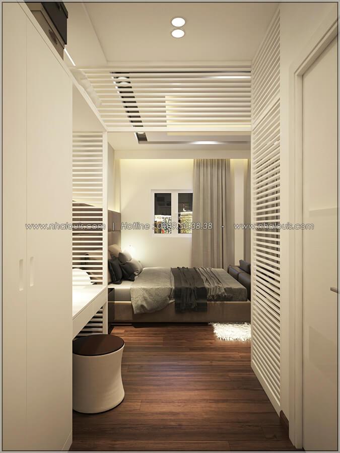 Phòng ngủ master Thiết kế nhà mặt tiền 6m tại Quận Bình Tân - 34