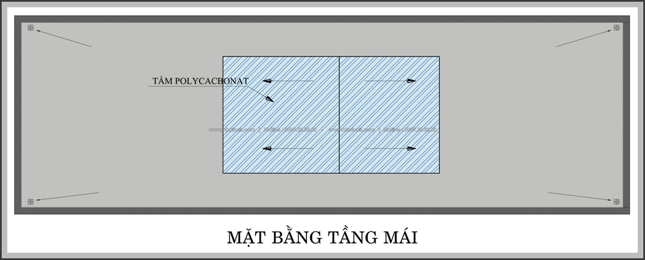 Mặt bằng tầng mái Thiết kế nhà mặt tiền 6m tại Quận Bình Tân - 36