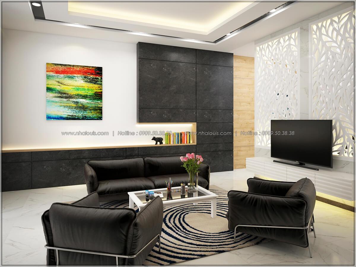 Phòng khách Thiết kế nhà mặt tiền 6m tại Quận Bình Tân - 6