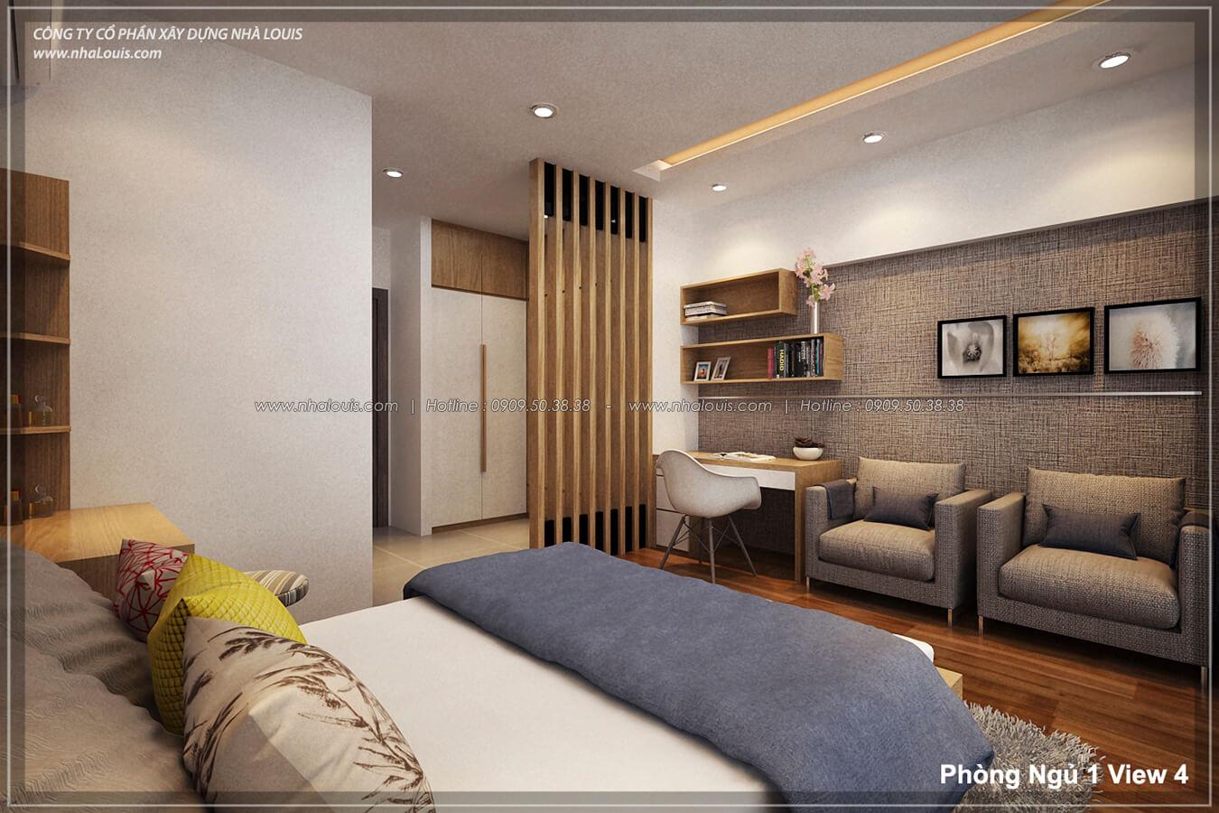 Phòng ngủ Thiết kế nhà lệch tầng đẹp 4.5x14.5m hiện đại tại quận Tân Bình - 15