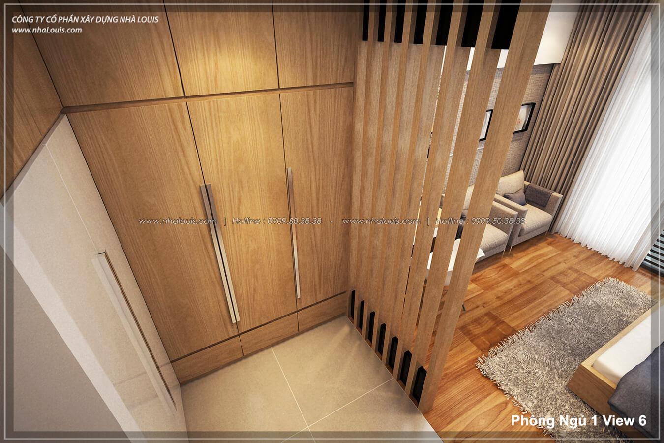Phòng ngủ Thiết kế nhà lệch tầng đẹp 4.5x14.5m hiện đại tại quận Tân Bình - 17