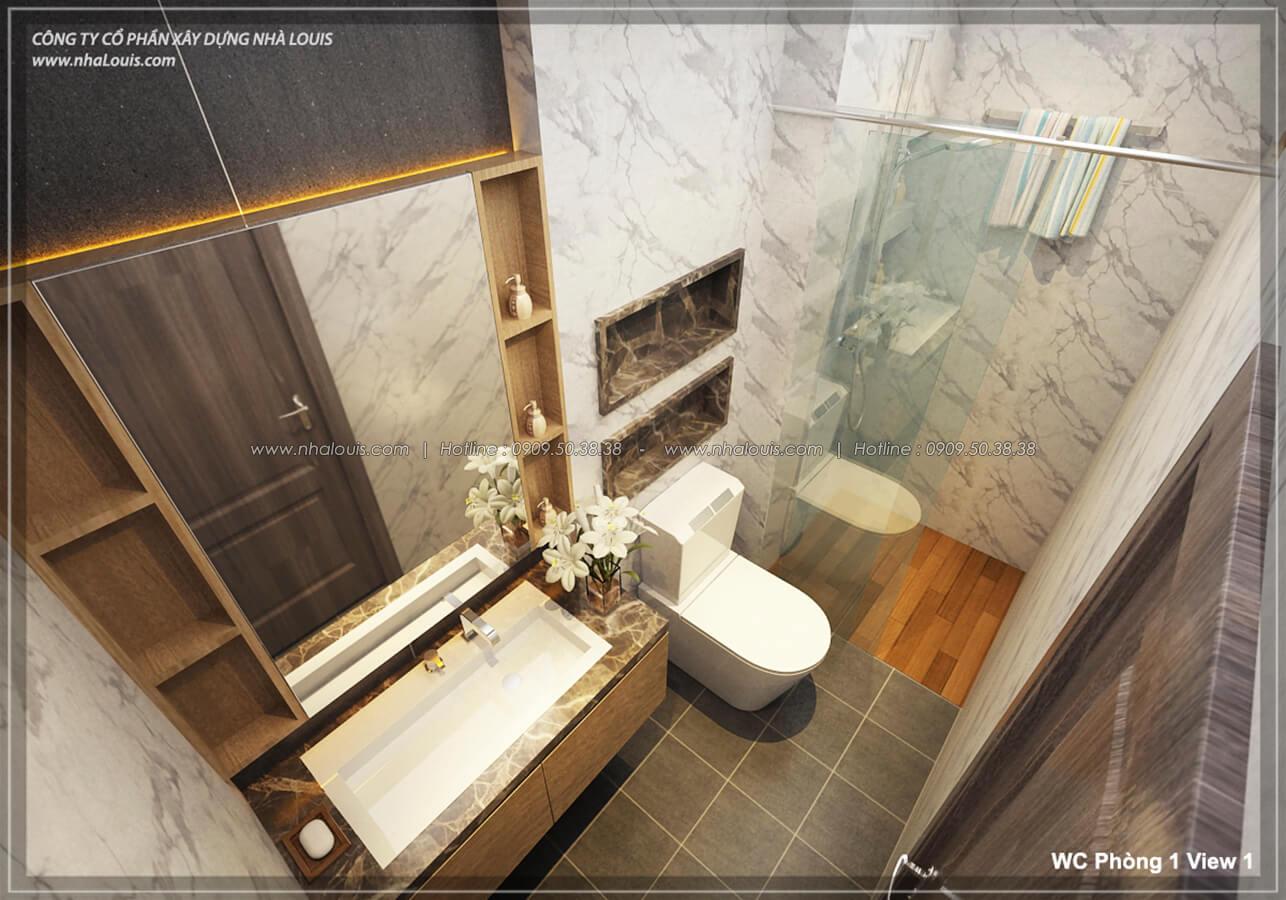 Phòng tắm & WC Thiết kế nhà lệch tầng đẹp 4.5x14.5m hiện đại tại quận Tân Bình - 18