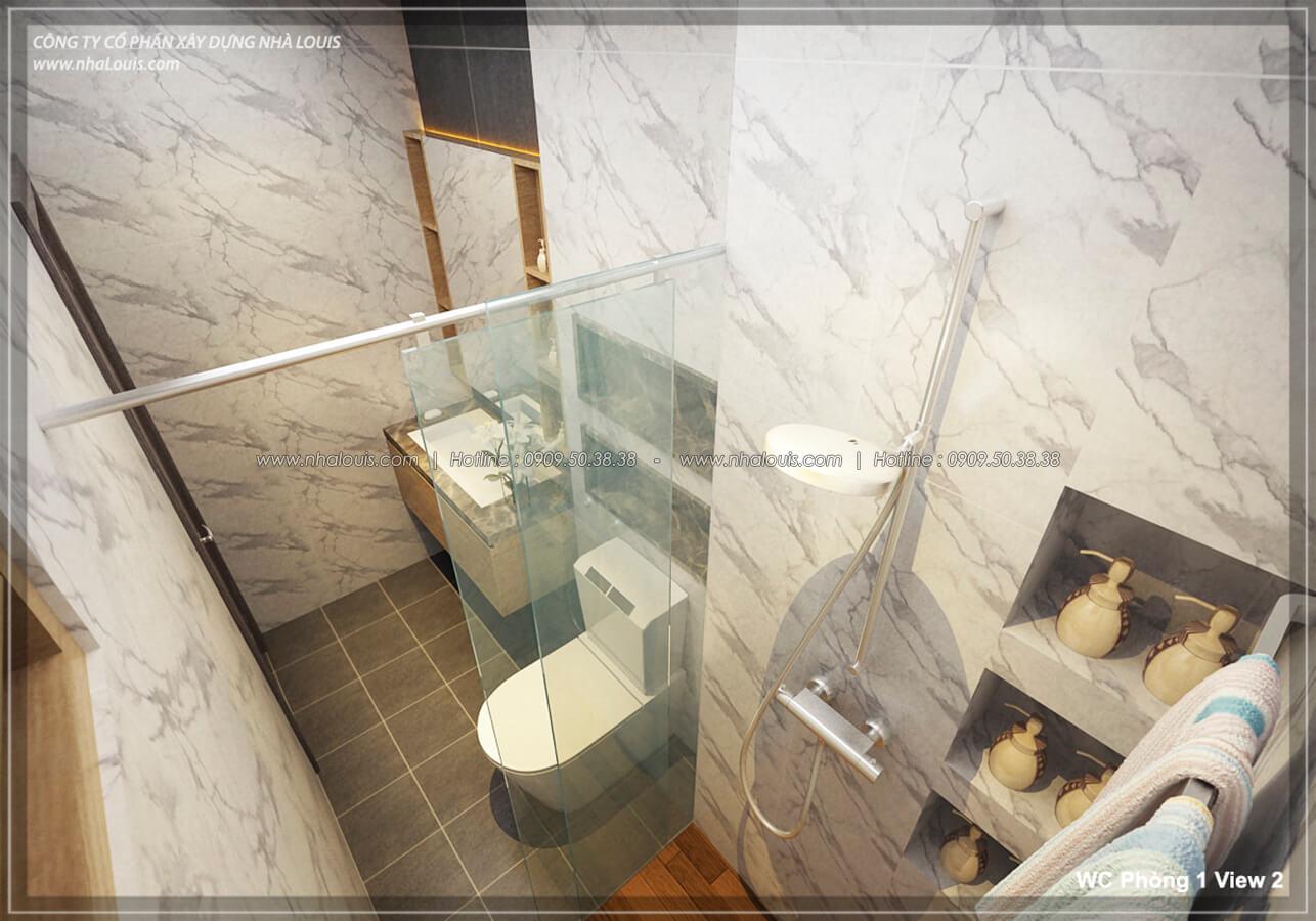 Phòng tắm & WC Thiết kế nhà lệch tầng đẹp 4.5x14.5m hiện đại tại quận Tân Bình - 19