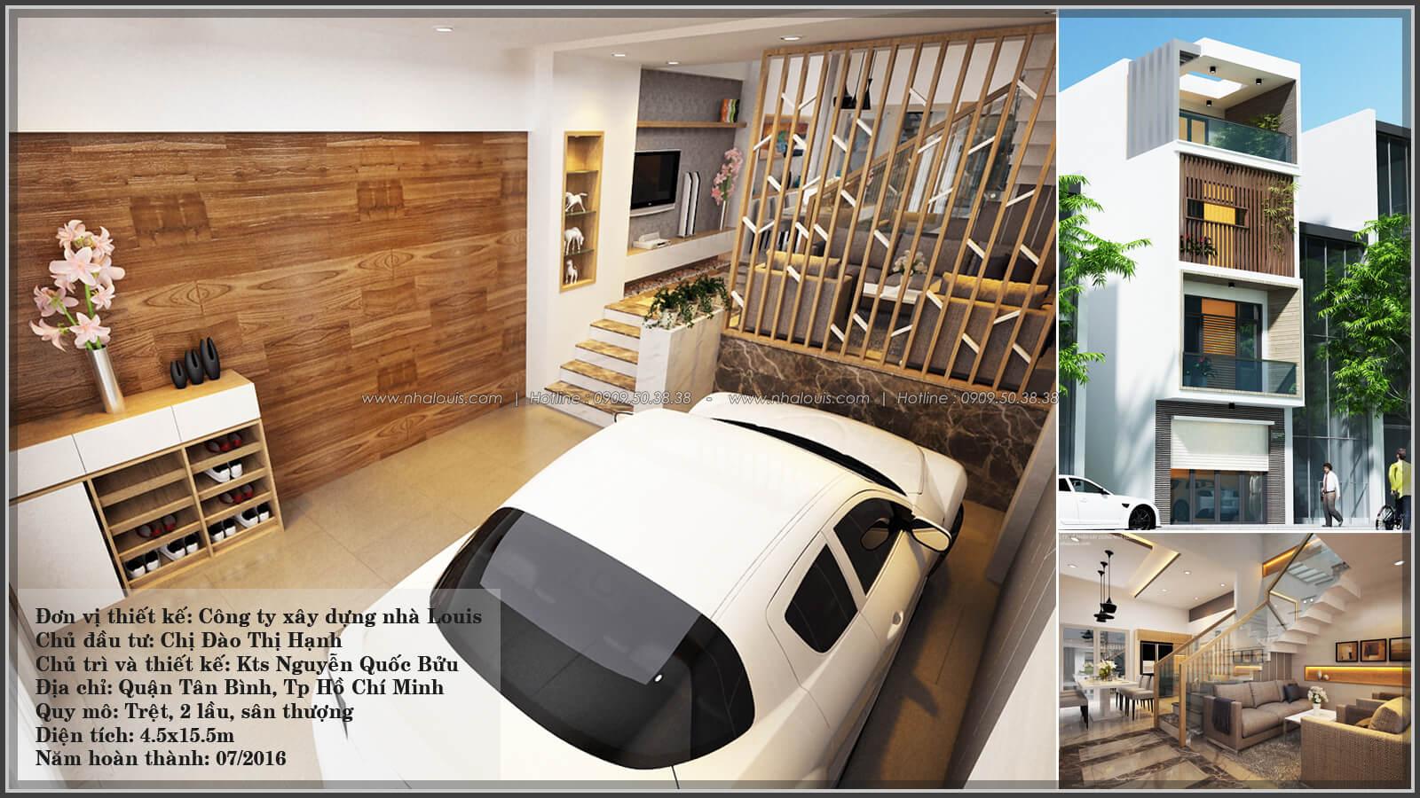 Thiết kế nhà lệch tầng đẹp 4.5x14.5m hiện đại tại quận Tân Bình - 1