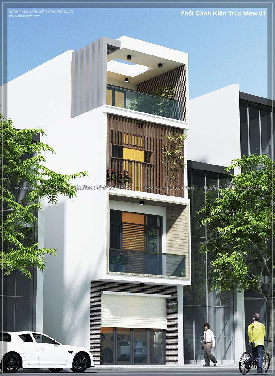 Thiết kế nhà lệch tầng đẹp 4.5x14.5m hiện đại tại quận Tân Bình - 2