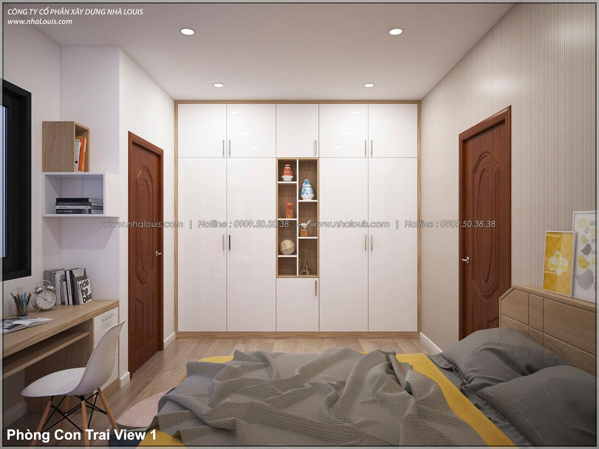 Phòng ngủ Thiết kế nhà lệch tầng đẹp 4.5x14.5m hiện đại tại quận Tân Bình - 20