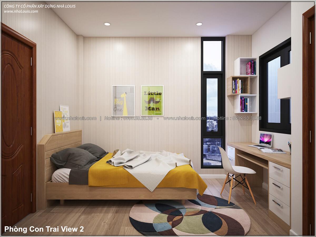 Phòng ngủ Thiết kế nhà lệch tầng đẹp 4.5x14.5m hiện đại tại quận Tân Bình - 21