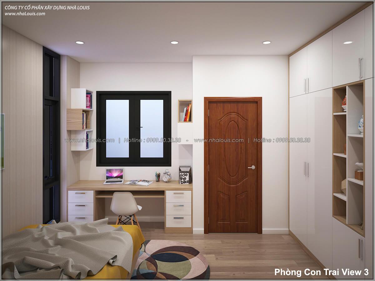 Phòng ngủ Thiết kế nhà lệch tầng đẹp 4.5x14.5m hiện đại tại quận Tân Bình - 22