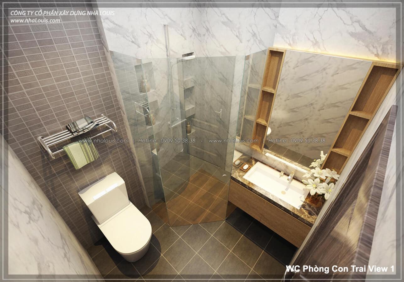 Phòng tắm & WC Thiết kế nhà lệch tầng đẹp 4.5x14.5m hiện đại tại quận Tân Bình - 23