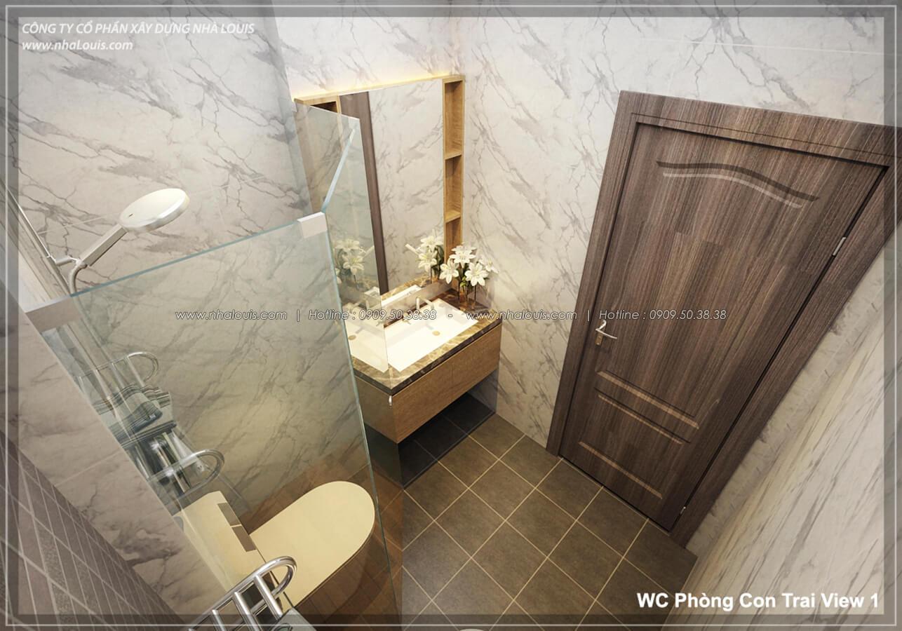 Phòng tắm & WC Thiết kế nhà lệch tầng đẹp 4.5x14.5m hiện đại tại quận Tân Bình - 24
