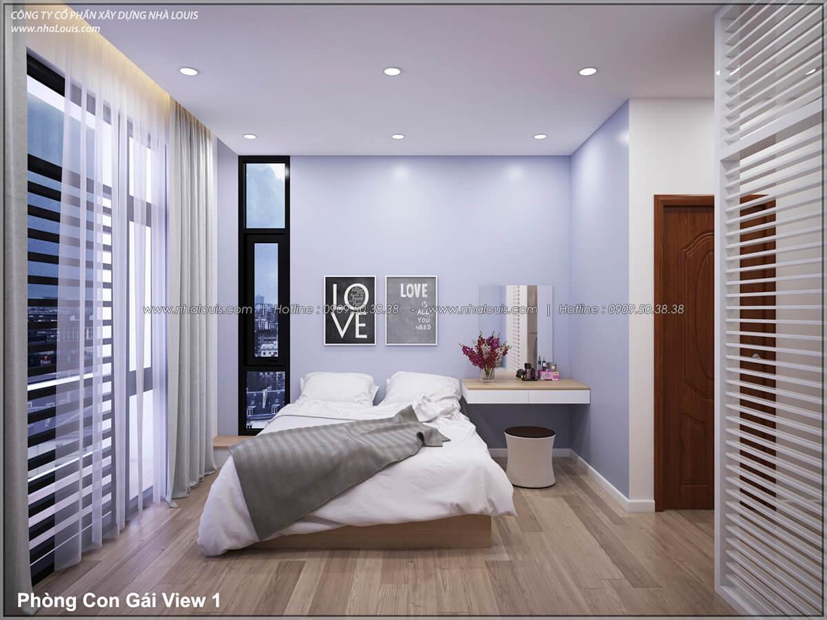 Phòng ngủ Thiết kế nhà lệch tầng đẹp 4.5x14.5m hiện đại tại quận Tân Bình - 26