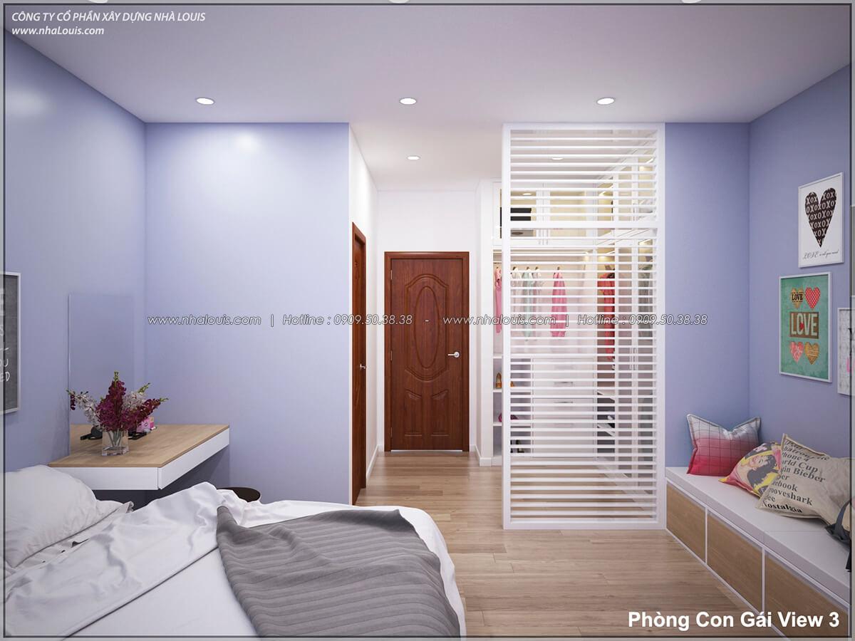 Phòng ngủ Thiết kế nhà lệch tầng đẹp 4.5x14.5m hiện đại tại quận Tân Bình - 27
