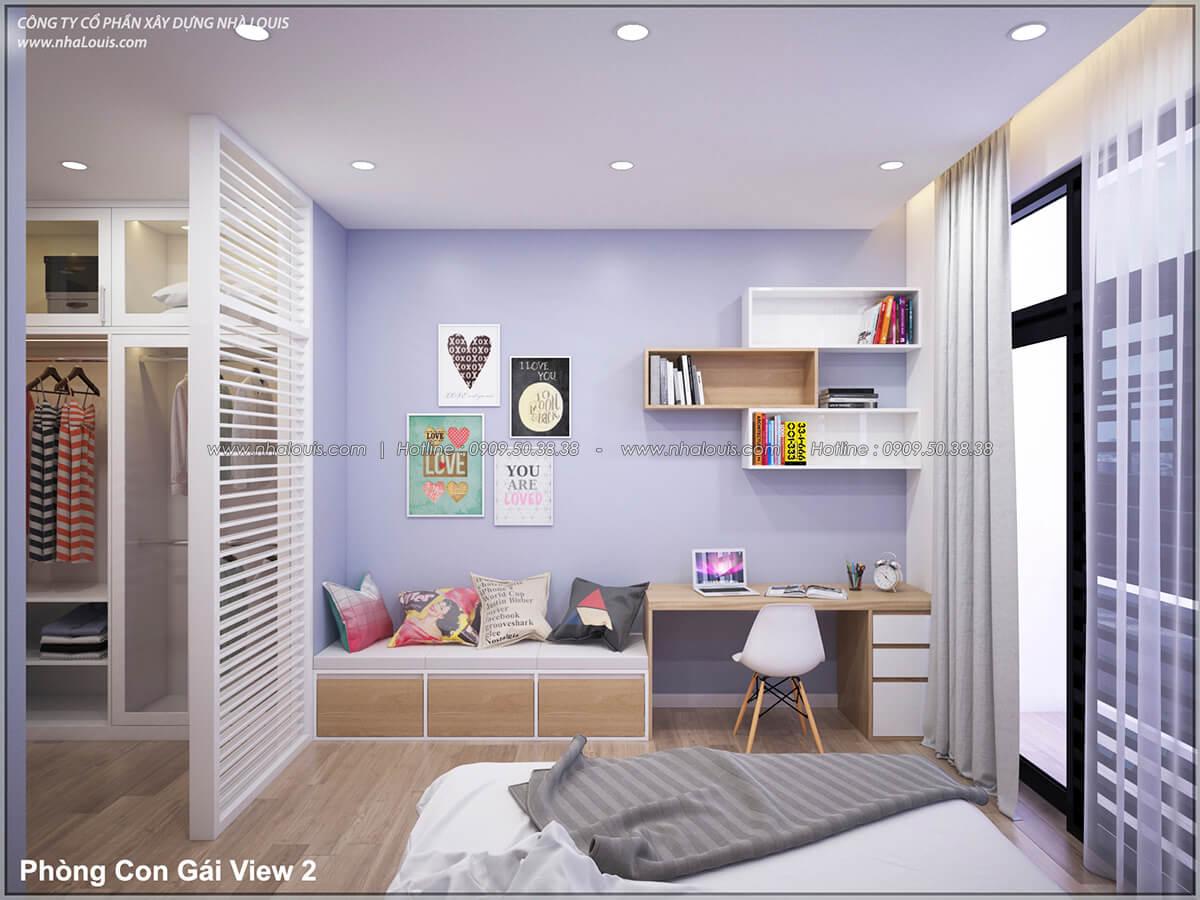 Phòng ngủ Thiết kế nhà lệch tầng đẹp 4.5x14.5m hiện đại tại quận Tân Bình - 28