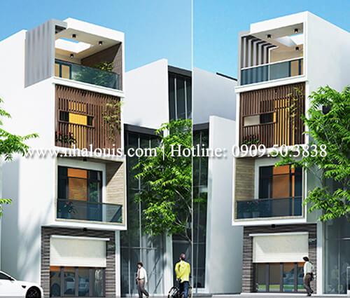 Thiết kế nhà lệch tầng đẹp 4.5×14.5m hiện đại tại quận Tân Bình