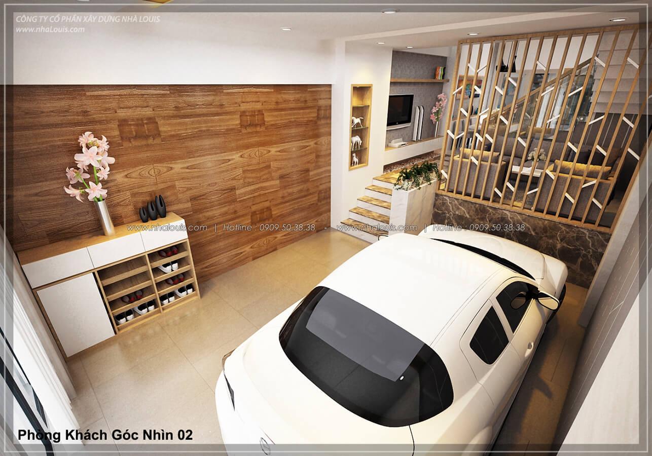Gara Thiết kế nhà lệch tầng đẹp 4.5x14.5m hiện đại tại quận Tân Bình - 4