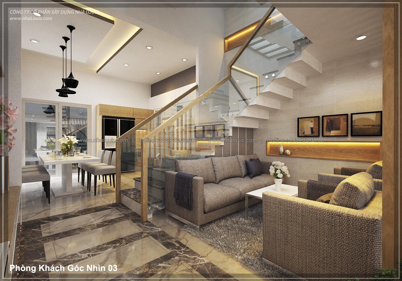Thiết kế nhà lệch tầng đẹp 4.5x14.5m hiện đại tại quận Tân Bình - 7