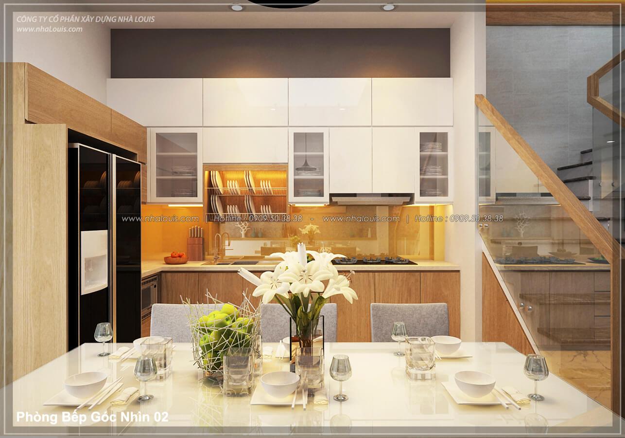 Bếp & phòng ăn Thiết kế nhà lệch tầng đẹp 4.5x14.5m hiện đại tại quận Tân Bình - 9