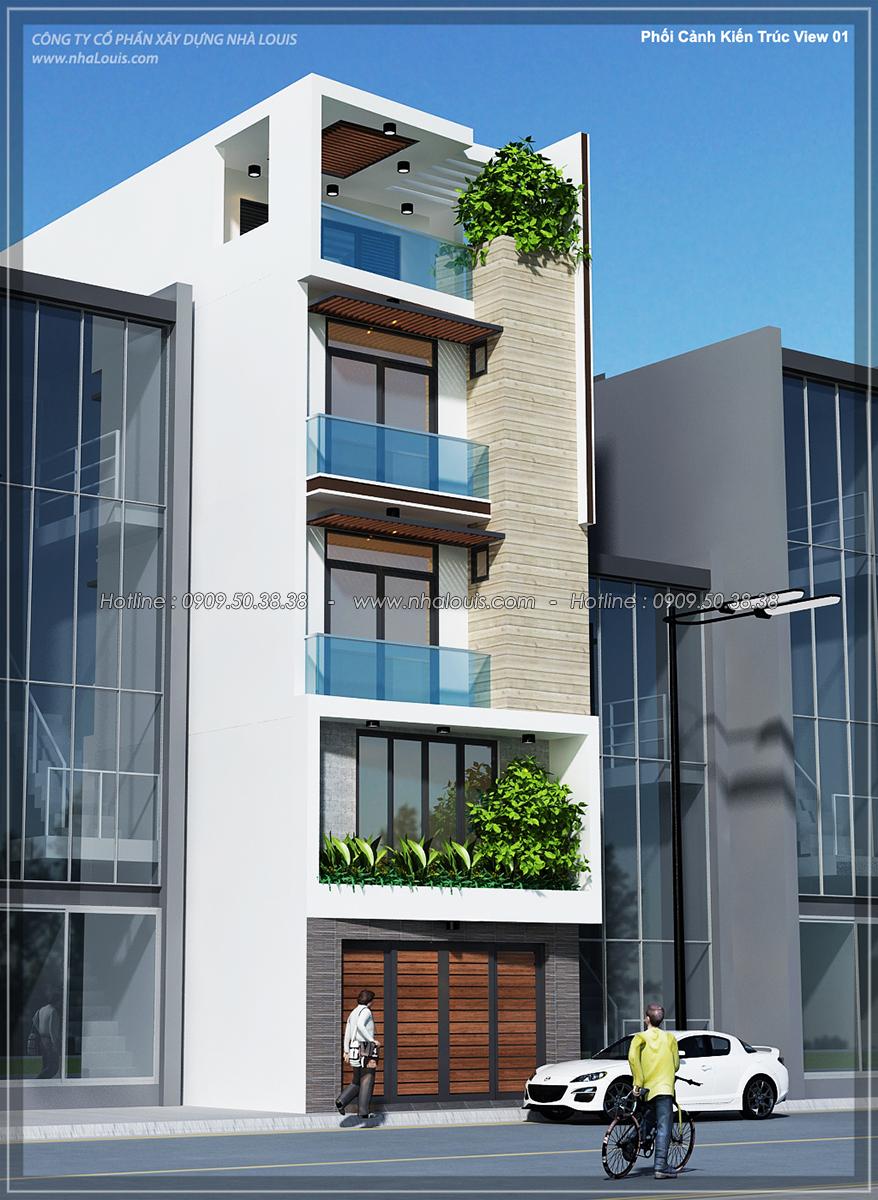 [Video] Hoàn thiện nhà phố 5 tầng phong cách hiện đại tại Tân Bình