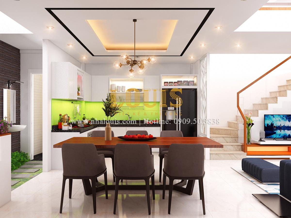 Mẫu thiết kế nhà ống 5 tầng mặt tiền 5m có gara ô tô tại Tân Bình