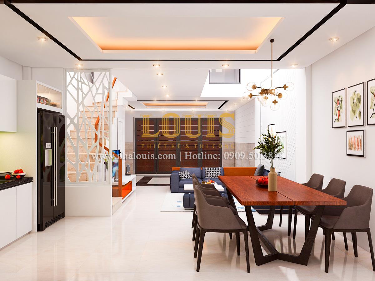 Ngắm không gian nhà phố 5 tầng hiện đại và thoáng rộng ở Tân Bình