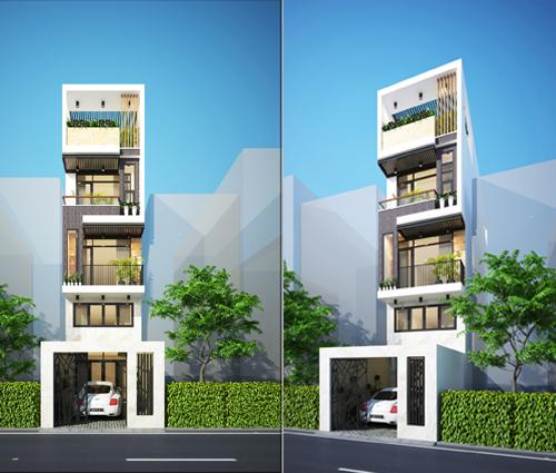 Thiết kế nhà phố 5 tầng đẹp phong cách hiện đại sang trọng tại Thủ Đức