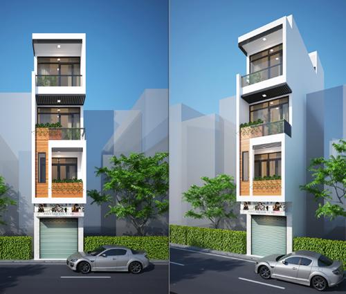 Thiết kế nhà phố 4 tầng 3.3x10m kết hợp kinh doanh tại chợ Tân Bình