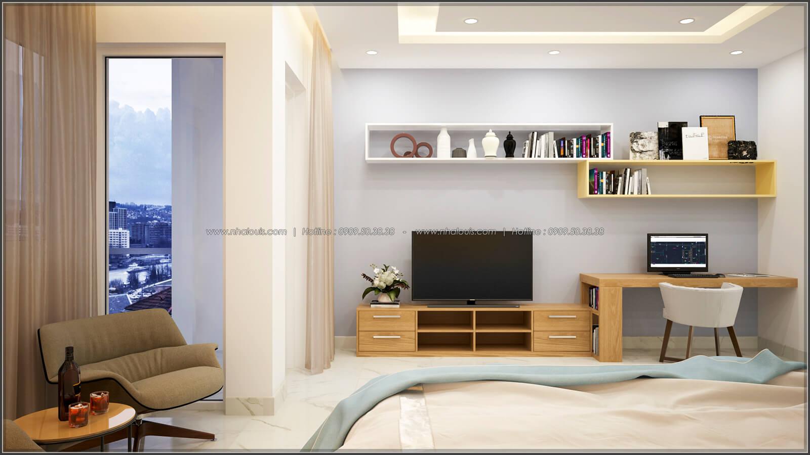 Phòng ngủ Thiết kế nhà ở kết hợp kinh doanh với master sang chảnh quận 8 - 10