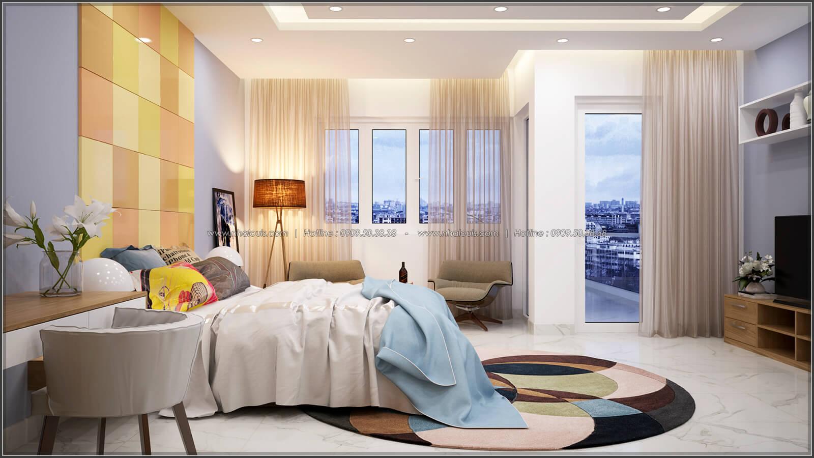 Phòng ngủ Thiết kế nhà ở kết hợp kinh doanh với master sang chảnh quận 8 - 11